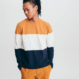 吸水速乾 3 GIB カラーブロック 長袖Tシャツ (マスタード)