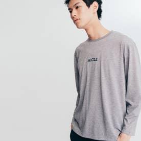 吸水速乾 ミニロゴ 半袖Tシャツ (ヘザーグレー)