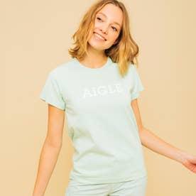 吸水速乾 グラフィック ロゴTシャツ (ライトグリーン)