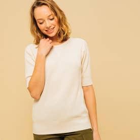 吸水速乾 ルミラソル ワッフルTシャツ (オフホワイト)
