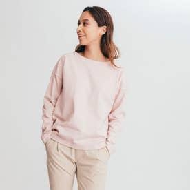 ツイルドロップショルダー 長袖Tシャツ (ピンク)