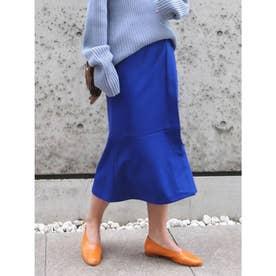 カラーミモレスカート (ブルー)