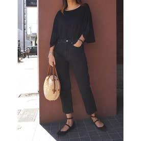 ボックススリーブTシャツ (ブラック)