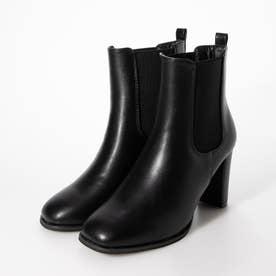 ヒールサイドゴアブーツ(210816) (ブラック)