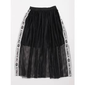 メッシュ重ねスカート (ブラック)