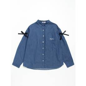 りぼん付きBIGシャツ (デニム)