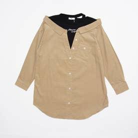 コーデュロイドッキングシャツ (ベージュ)