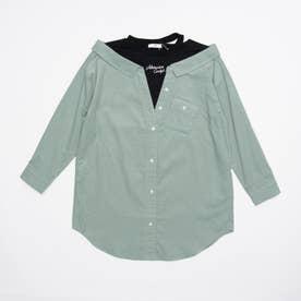 コーデュロイドッキングシャツ (ミント)