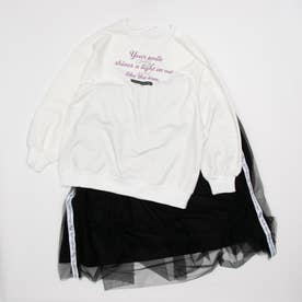 ゆるロンT&チュールスカートセット (ブラック)