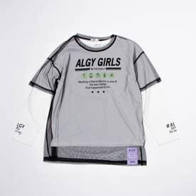 シースルーTシャツ&ロンTセット (ブラック)