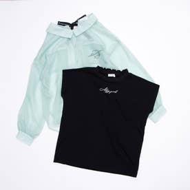 シースルーシャツ&Tセット (ミント)