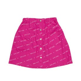 接触冷感インパン付き総柄スカート (ピンク)