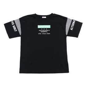 メッシュ袖吸水速乾T (ブラック)