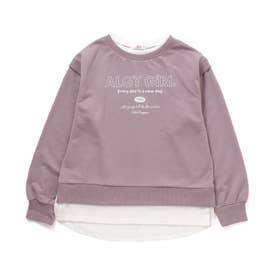 レイヤード風トレーナー (ピンク)