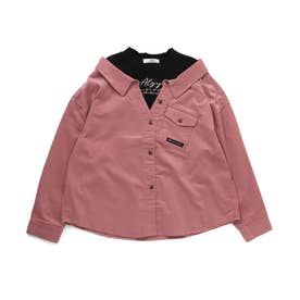 コーデュロイドッキングシャツ (ピンク)