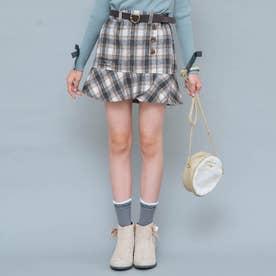 ベルト付きマーメイドスカート (オフホワイト)