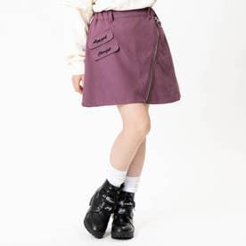 ナナメジップスカート (ピンク)