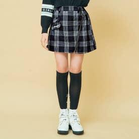 ナナメジップスカート (チェック柄)