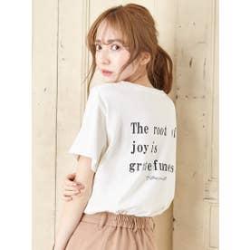 アソートロゴTシャツ (オフホワイト/クロ)