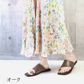glitter 本革 サムリング トングサンダル (オーク)