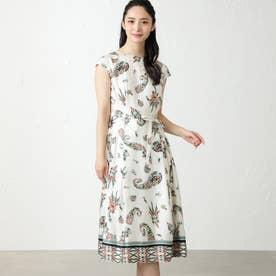 ボタニカルペイズリードレス (オフホワイト)