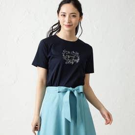 NOZOMI YUASAコラボロゴ半袖Tシャツ (ブラックネイビー)