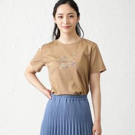 NOZOMI YUASAコラボロゴ半袖Tシャツ (キャメル)