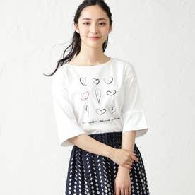 NOZOMI YUASAコラボ7分袖Tシャツ (オフホワイト)