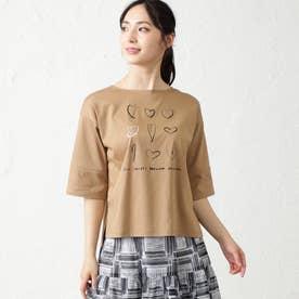 NOZOMI YUASAコラボ7分袖Tシャツ (キャメル)