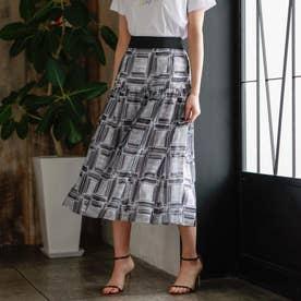 ◆◆シアースクエアシャーリングスカート (ネイビー)