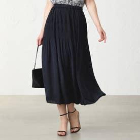 ◆◆マジョリカプリーツスカート (ブラックネイビー)