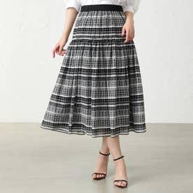 ◆◆ブロックアートスカート (ブラック)
