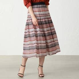 ◆◆ブロックアートスカート (オレンジ)