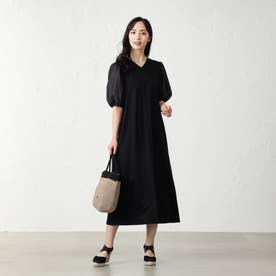 コンビジャージードレス (ブラック)
