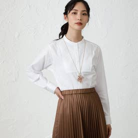 ソリッドオーバーサイズシャツ (オフホワイト)