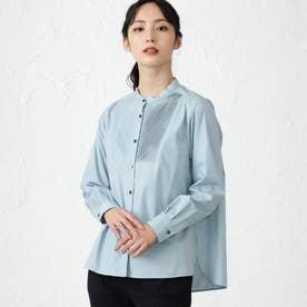 ソリッドオーバーサイズシャツ (ブルー)