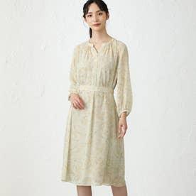 IBARAプリントドレス (イエロー)