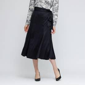 スウェードジャージースカート (ブラックネイビー)