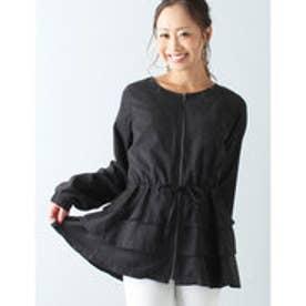 裾フリルジャンパー (ブラック)