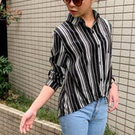 新作 2019 SS 春夏 令和 元年新作 裾タックデザインシャツ (ブラック)
