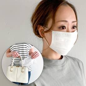 洗えるフィルターポケットコットン マスク 専用ケース付き【返品不可商品】 (ホワイト)