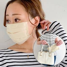 洗えるフィルターポケットコットン マスク 専用ケース付き【返品不可商品】 (アイボリー)