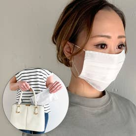 洗えるフィルターポケットコットン マスク 専用ケース付き マスク 布マスク マスク通販【返品不可商品】 (ホワイト)