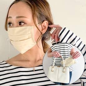 洗えるフィルターポケットコットン マスク 専用ケース付き マスク 布マスク マスク通販【返品不可商品】 (アイボリー)