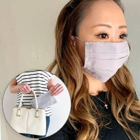 洗えるフィルターポケットコットン マスク 専用ケース付き マスク 布マスク マスク通販【返品不可商品】 (ライトグレー)
