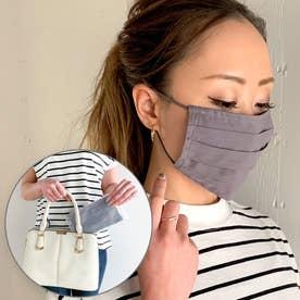 洗えるフィルターポケットコットン マスク 専用ケース付き マスク 布マスク マスク通販【返品不可商品】 (ダークグレー)