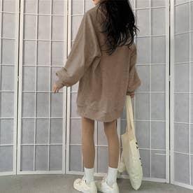 生地が選べる ワイドアームビッグパーカー 韓国ファッション 春 夏 秋 冬 パーカー (モカ(起毛))