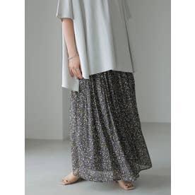 シフォンギャザースカート (フラワー)