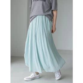 シフォンギャザースカート (サックスブルー)