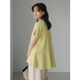 裾フレアカットプルオーバー (ライトイエロー)